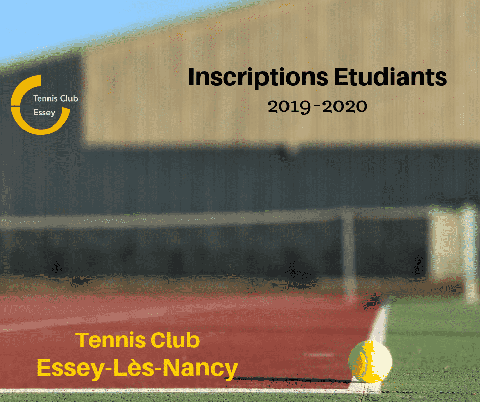Tennis Essey inscription étudiant